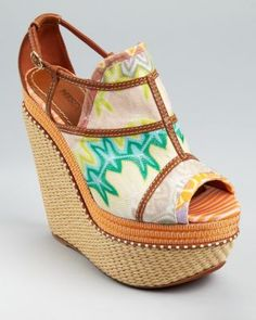 Missoni Wedges - Peep Toe Platform | Bloomingdale's