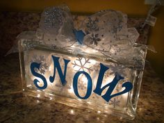 via Etsy.sweet idea to use a glass block for a night light