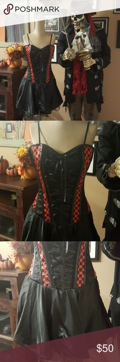 Burleska Red Check Lily Crest Dress Corset Burleska Red Check Lily Crest Dress Corset NWT Burleska Other