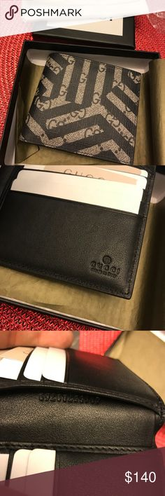 Matching Gucci wallet authentic Authentic with box , dust bag, etc any questions ask Gucci Accessories Money Clips