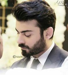 Beard And Mustache Styles, Beard No Mustache, Hair And Beard Styles, Most Handsome Men, Handsome Actors, Handsome Boys, Fawad Khan Beard, Medium Beard Styles, Pak Drama