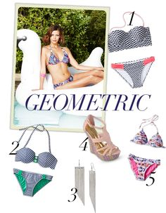 Get geometric: Simple, bold and modern with a splash of color #style #swim #spring
