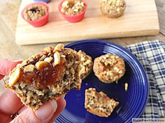 Individual Peanut Butter Banana Jelly Filled Baked Oatmeal Cups {Dairy Free}   These are a great after school treat for the kids, they won't even realize they are eating oatmeal!!!