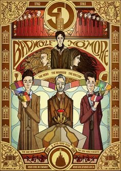 The Day of the Doctor by 6worldangel9 @ deviantart.  (Also, a PSA - folks, don't pin stuff and have it link back to your Tumblr dash! Those of us not on Tumblr still want to know who draws this awesome stuff without having to reverse-Google Image Search.)