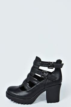 Charlie Cut Work Cleated Shoe Boot at boohoo.com