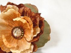 Shabby Chic Fall Hair Flower Clip by SeamsVictorian on Etsy, $12.00