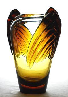 Lalique Art Deco Marrakech Vase