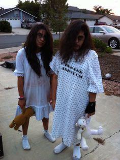 Asylum patients, scary girls, halloween, DIY costumes