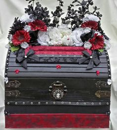 Hey, I found this really awesome Etsy listing at https://www.etsy.com/listing/206834215/gothic-wedding-card-box