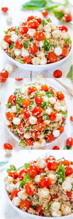 This must be the tastiest and most beautiful combination of Tomato, Mozzarella & Basil Quinoa. All together to make an amazing Gluten-Free and healthy salad!
