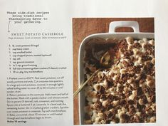 Sweet Potato Casserole recipe by Joanna Gaines Magnolia Journal