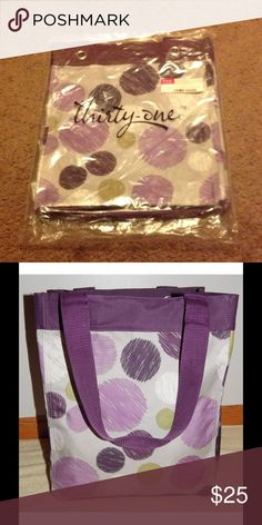 Brand new thirty one essentials storage tote Brand new never used thirty one essentials storage tote in sketchy dot. 31 Bags Totes