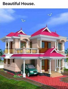 Pave your way to new cabin crew career House Balcony Design, Village House Design, Kerala House Design, Bungalow House Design, House Front Design, Beautiful House Plans, Dream House Plans, House Structure Design, Modern Home Design