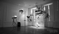 """Claire Sauvaget is a french artist who creates installations with 3D print sculptures mixed with plants. This pictures shows her artwork""""Où sont nos racines?"""" installation (""""where are our roots?""""), created in 2017, Toulouse, France."""