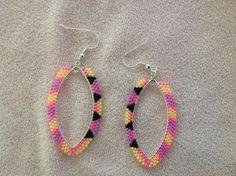 Star Earrings, Beaded Earrings, Crochet Earrings, Hoop Earrings, Nativity Crafts, Native Beadwork, Brick Stitch, Tree Branches, Loom