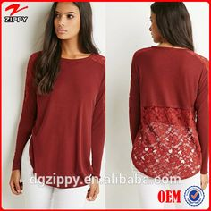 2015 New Tops Designs Fashion Sexy Lace Slub Knit Tops For Women , Find Complete Details about 2015 New Tops Designs Fashion Sexy Lace Slub Knit Tops For Women,Fashion Tops,Women Top,Sexy Red Tops For Women from Plus Size Shirts & Blouses Supplier or Manufacturer-Dongguan City Humen Zippy Clothing Co., Limited