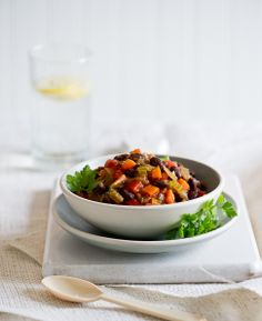 Vegetarian Chili Recipe with Roasted Chiles:   http://whiteonricecouple.com/recipes/vegetarian-chili/