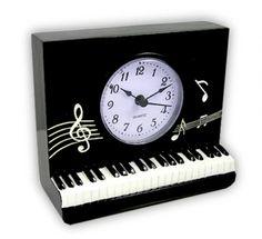 Piano keyboard clock Cloud Quotes, Piano Music Notes, Piano Keys, Clocks, Keyboard, Gift Ideas, Black And White, Gifts, Decor