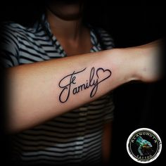 Tattoo arm is a good choice for your lettering tattoo. Choose your new tattoo now.