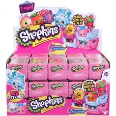 Shopkins Season 4 Full Case Of 30 - Mystery Blind 2 Packs Milk Crates Sealed w/ Petkins #56078