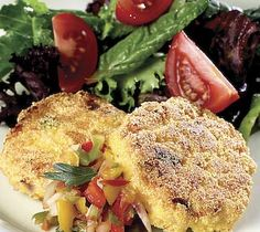 Thrifty Foods - Recipe - West Coast Shrimp Cakes with Sweet Pepper Salsa