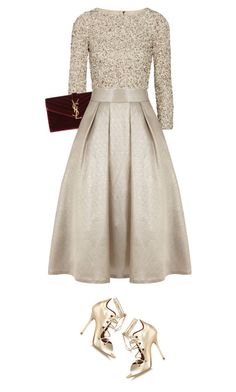 christmas's eve (1) by littlebambii on Polyvore featuring Alice + Olivia, Coast, Malone Souliers, Yves Saint Laurent, women's clothing, women's fashion, women, female, woman and misses
