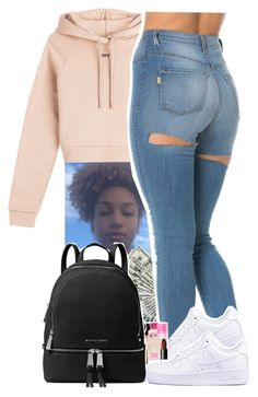 """Untitled #93"" by xxsaraxtaraxx ❤ liked on Polyvore featuring Off-White, NIKE and MICHAEL Michael Kors"