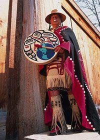 Tsimshian drummer