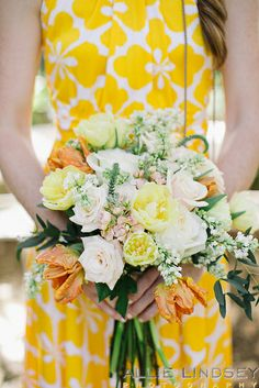RSVP Events Floral Studio Temecula CA pink and yellow flower bouquet  www.allielindsey.com