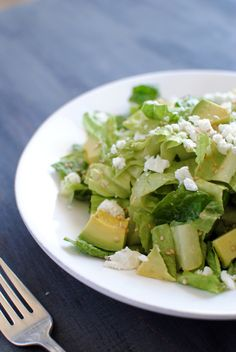 Romaine Heart Salad with Easy Avocado Vinaigrette - Eating Made Easy