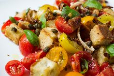 Panzanella With Crisp Chicken Skin by Melissa Clark   Photo: Evan Sung for The New York Times