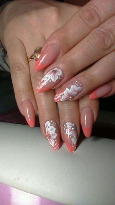 French Manicure Designs, Fall Nail Art Designs, Pretty Nail Art, Cool Nail Art, Plain Nails, Vacation Nails, Magic Nails, Flower Nail Art, Nail Artist