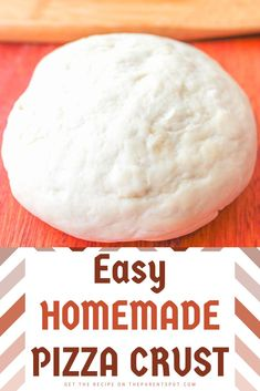 Easy Homemade Pizza Dough Crust Rustic pizza dough is one of the easiest, tastiest homemade pizza dough recipes. Remember that delicious smell of homemade bread? Yep, homemade pizza dough has the same delicious, intoxicating smell. Rustic Pizza Dough Recipe, Pizza Dough Recipe Quick, Crust Recipe, Quick Pizza, Sauce Pizza, Easy Homemade Pizza, Pizza Recipes, Bread Recipes, Lunch Recipes