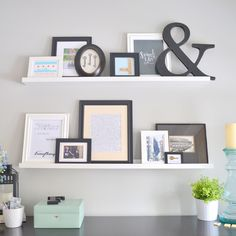 bedroom-ikea-ledges-picture Gallery wall commitment fear