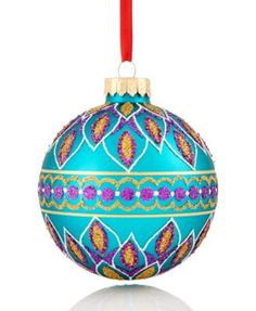 Holiday Lane Peacock Ball Ornament, Only at Macy's