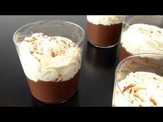 NATILLAS DE CHOCOLATE CASERA - YouTube Baking Tips, Baking Recipes, Healthy Baking, Healthy Recipes, Delicious Deserts, Spanish Food, Desert Recipes, Good Food, Ice Cream