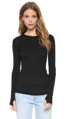 Enza Costa Cuffed Crew Neck Top | SHOPBOP SAVE UP TO 25% Use Code: GOBIG17