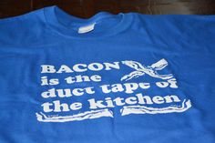 Mens Bacon tshirt funny bacon lover t shirt pig ham foodie kitchen geek humor men geekery tee internet duct tape meme clothing gift husband on Etsy, $14.99