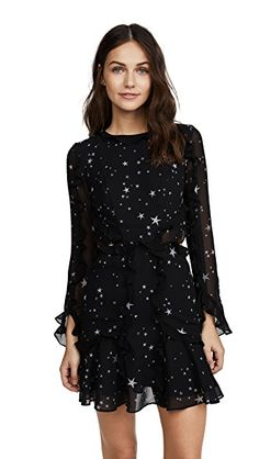 Fame and Partners The Kye 连衣裙 Nice Dresses, Short Dresses, Dresses With Sleeves, Formal Dresses, Sleeve Dresses, Casual Black Dresses, Dress Long, Black Women Fashion, Womens Fashion