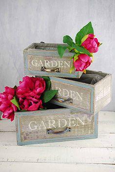 Wood Planter Boxes Garden (Set of 3) $20