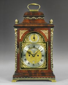OnlineGalleries.com - Antique George III period mahogany and brass mounted bracket clock by John Turner, London