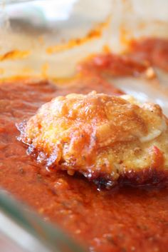 Tomato Parmesan Chicken  ~  An easy favorite.  Great served with a side of pasta and garlic bread.