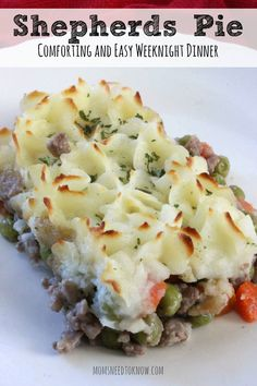 This easy Shepherds Pie recipe is so easy to make and you probably already have all the ingredients in your refrigerator or pantry!