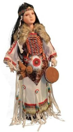 Indian Doll Dressed in Full Native American Costume Carrying Drum by PS, http://www.amazon.com/dp/B008DR6U3S/ref=cm_sw_r_pi_dp_S5tgsb1169Q9A