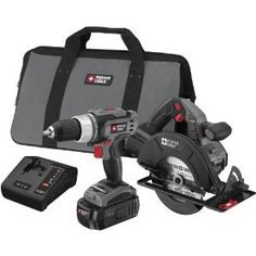 Porter-Cable PC218C-2 18-Volt NiCad Cordless 2-Tool Combo Kit --- http://www.amazon.com/Porter-Cable-PC218C-2-18-Volt-Cordless-2-Tool/dp/B001EYU8SK/?tag=dietexerciswo-20