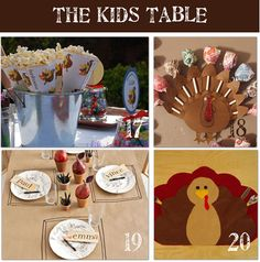 Kid's table - great ideas:-)
