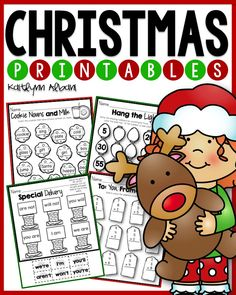 Christmas Math and Literacy printables for first grade!
