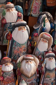 Russian Santas in St Petersburg.