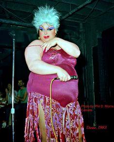 Divine at Studio 54, 1983. Photo: Phil Morris