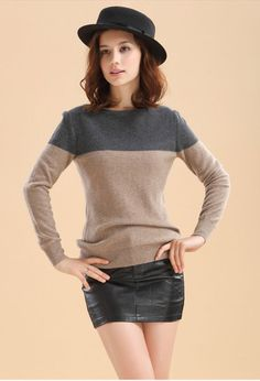 Cashmere Sweater Women Jumper Oversize Women Sweaters And Pullovers Knitted Pullover Patchwork Sweater